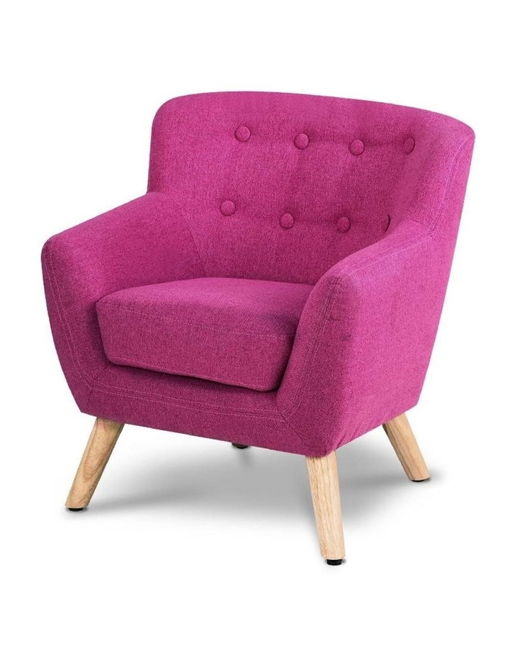 Keezi Kids Sofa Armchair Fabric Furniture Lorraine French Couch Children Pink image 1
