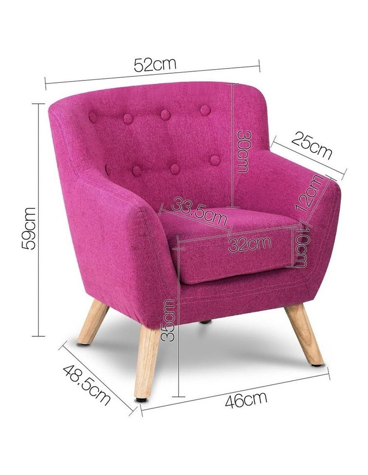 Keezi Kids Sofa Armchair Fabric Furniture Lorraine French Couch Children Pink image 2