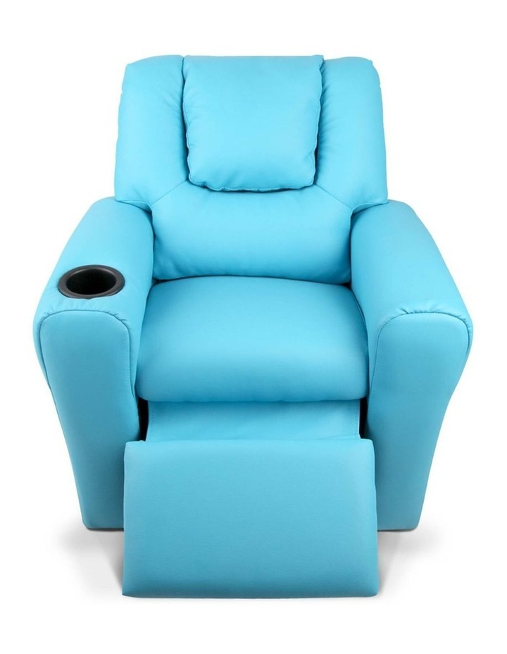 Keezi Luxury Kids Recliner Sofa Children Lounge Chair PU Couch Armchair Blue image 4