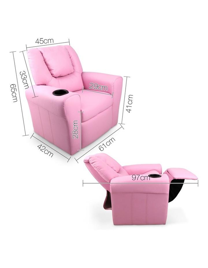 Keezi Luxury Kids Recliner Sofa Children Lounge Chair Couch PU Armchair PINK image 2