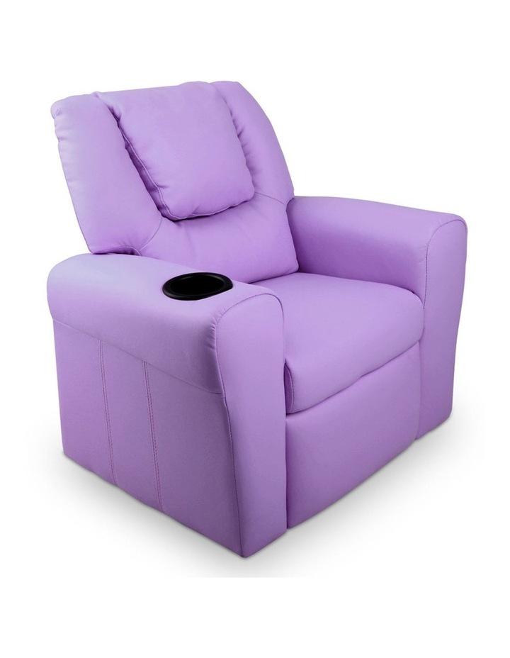 Keezi Luxury Kids Recliner Sofa Children Lounge Chair PU Couch Armchair Purple image 1