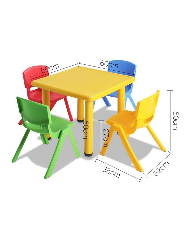 5 Piece Kids Table and Chair Set image 2