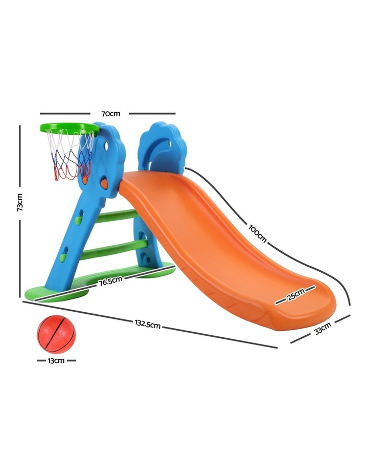 Slide with Basketball Hoop Outdoor Indoor Playground Toddler Play image 2