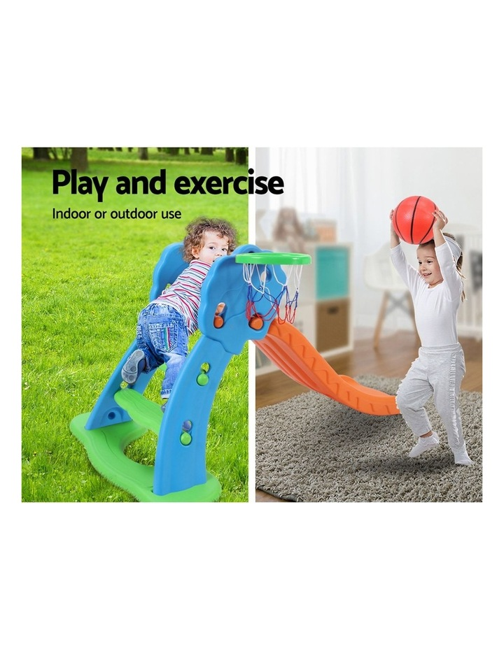 Slide with Basketball Hoop Outdoor Indoor Playground Toddler Play image 4