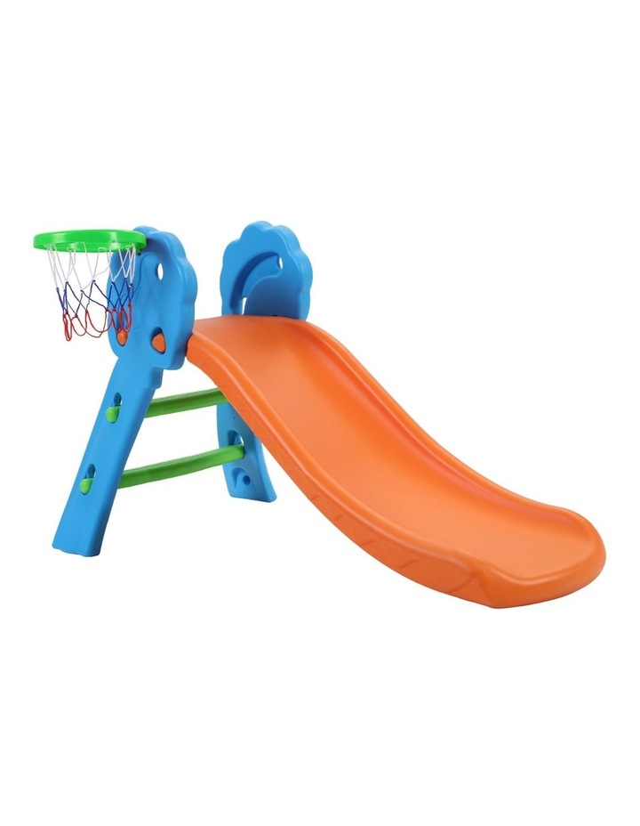 Slide with Basketball Hoop Outdoor Indoor Playground Toddler Play image 1