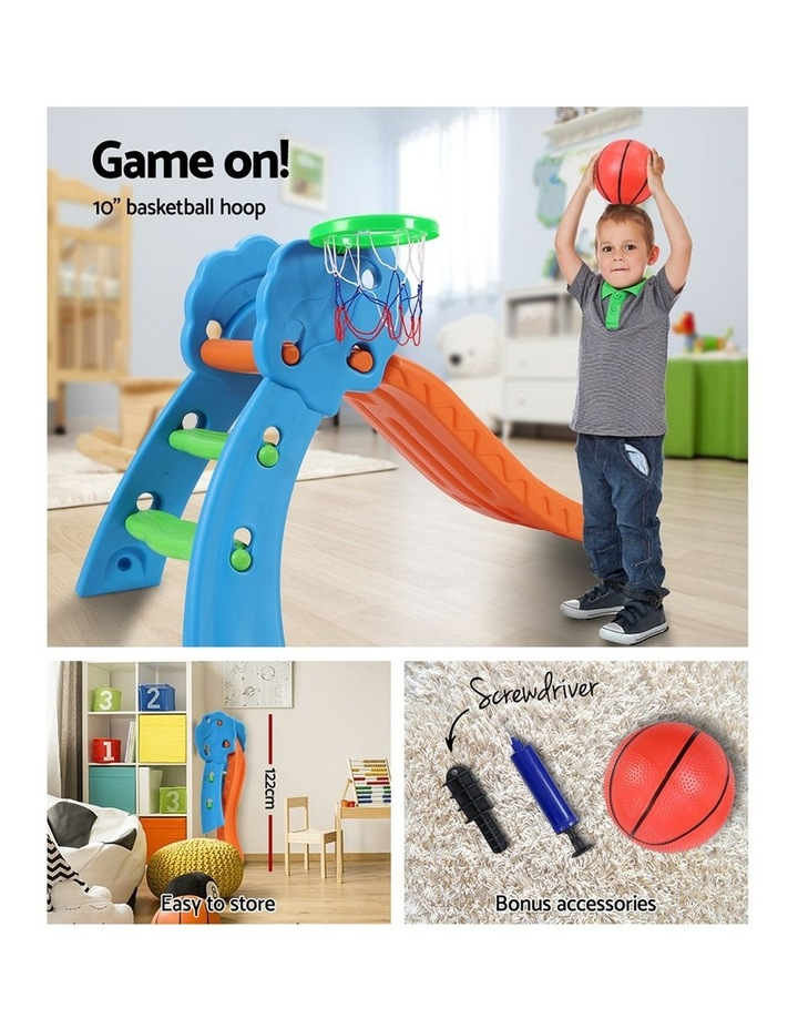 Slide with Basketball Hoop Outdoor Indoor Playground Toddler Play image 6