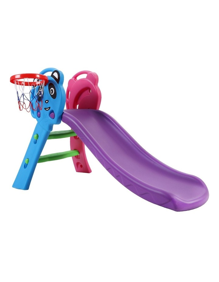 Slide Outdoor Indoor Playground Basketball Hoop Toddler Play Activity image 1