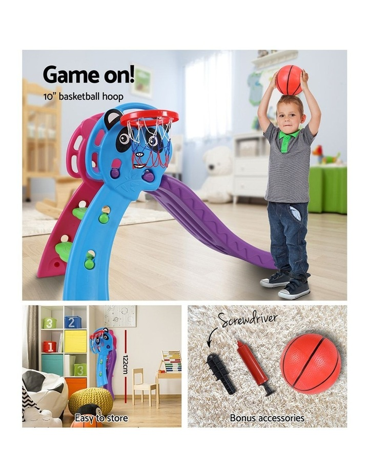 Slide Outdoor Indoor Playground Basketball Hoop Toddler Play Activity image 6