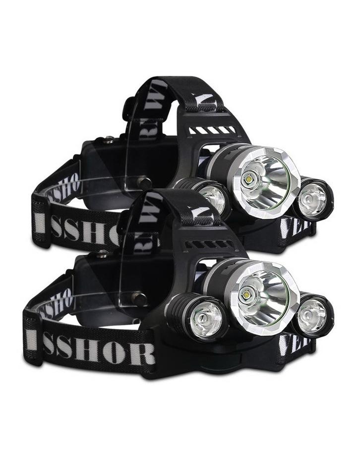 Set of 2 Modes LED Flash Torch Headlamp image 1