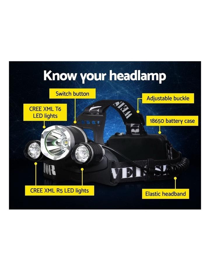 Set of 2 Modes LED Flash Torch Headlamp image 3
