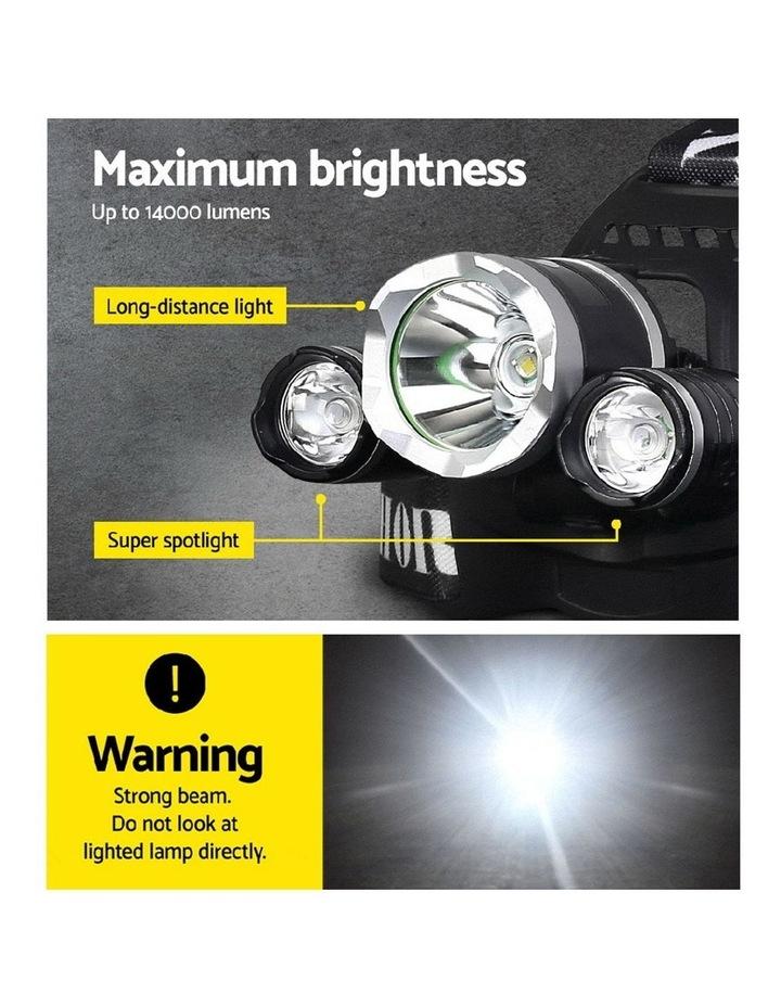 Set of 2 Modes LED Flash Torch Headlamp image 4