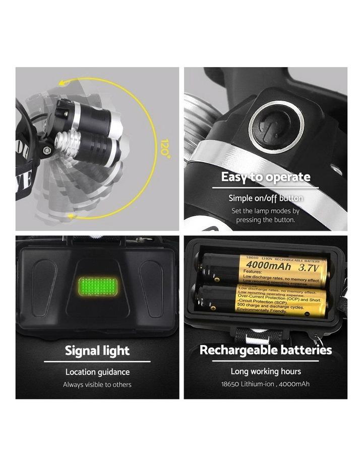 Set of 2 Modes LED Flash Torch Headlamp image 5