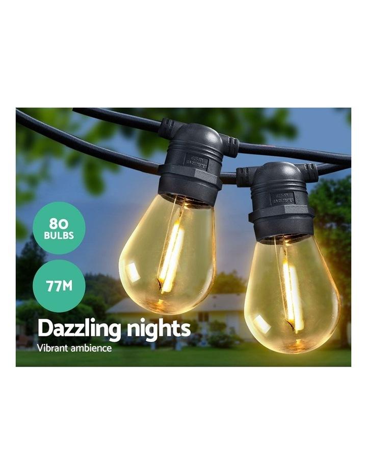 Jingle Jollys 77m LED Festoon String Lights Kits Wedding Party Christmas Outdoor image 3