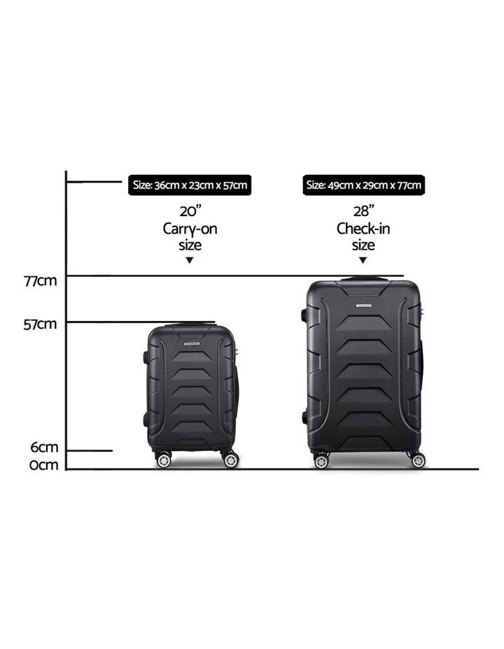 2PCS Carry On Luggage Sets image 2