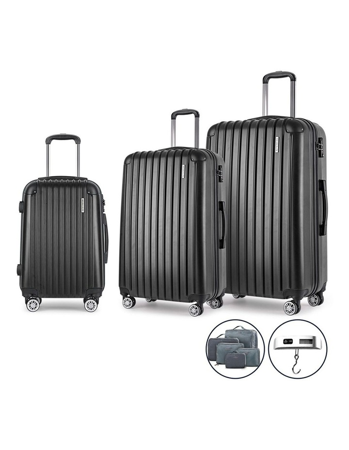3 Piece Luggage Suitcase Trolley image 1