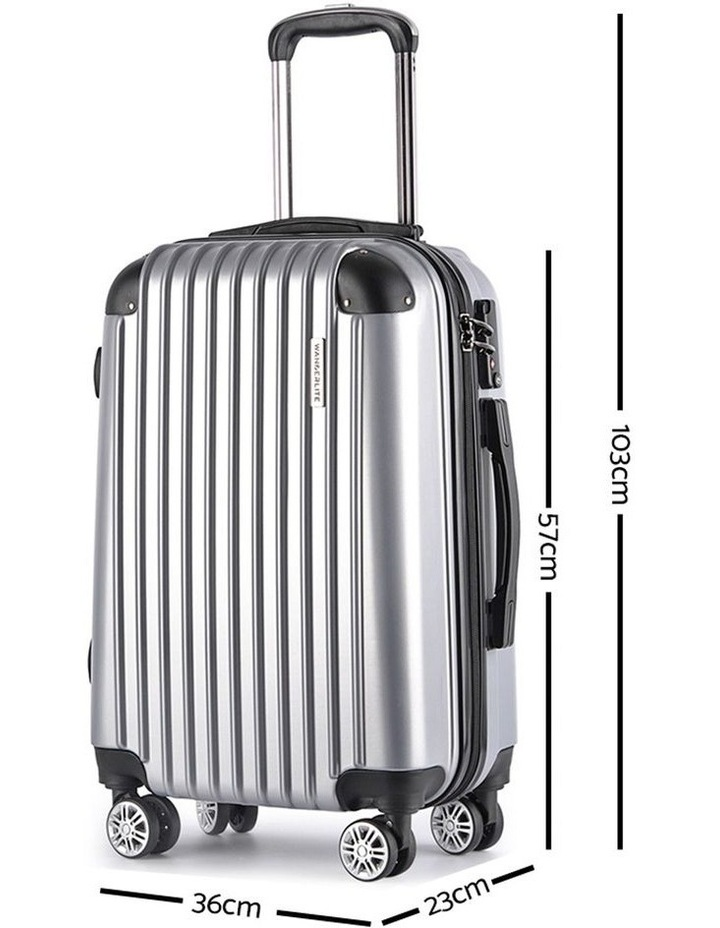 3 Piece Luggage Suitcase Trolley image 2