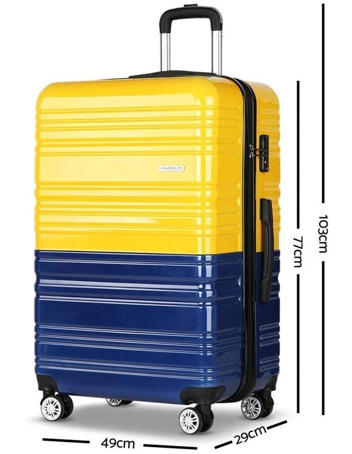 2 Piece Lightweight Hard Suit Case image 4