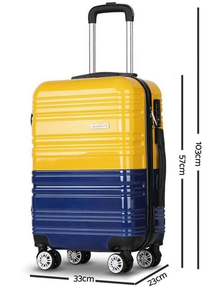 3 Piece Lightweight Hard Suit Case image 5