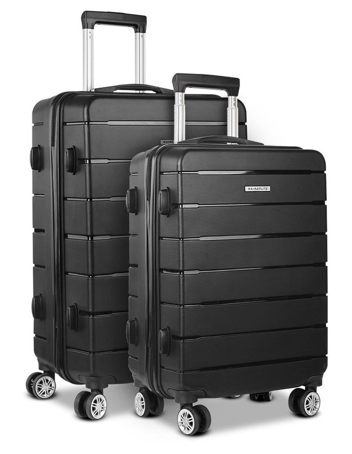 2PC Luggage Suitcase Trolley image 1