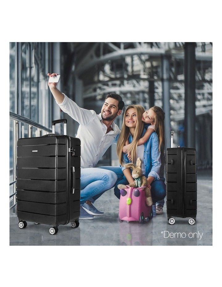 2PC Luggage Suitcase Trolley image 2
