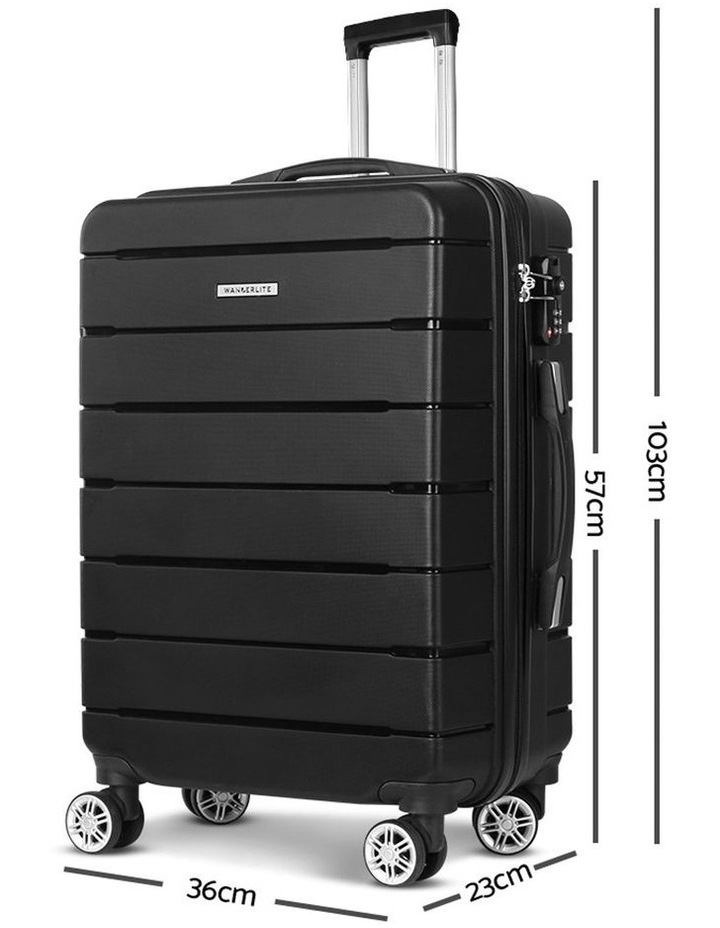 2PC Luggage Suitcase Trolley image 3