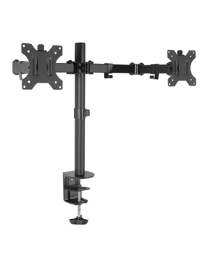 Dual LED Monitor Stand 2 Arm Hold Two LCD Screen TV Desk Mount Bracket image 1