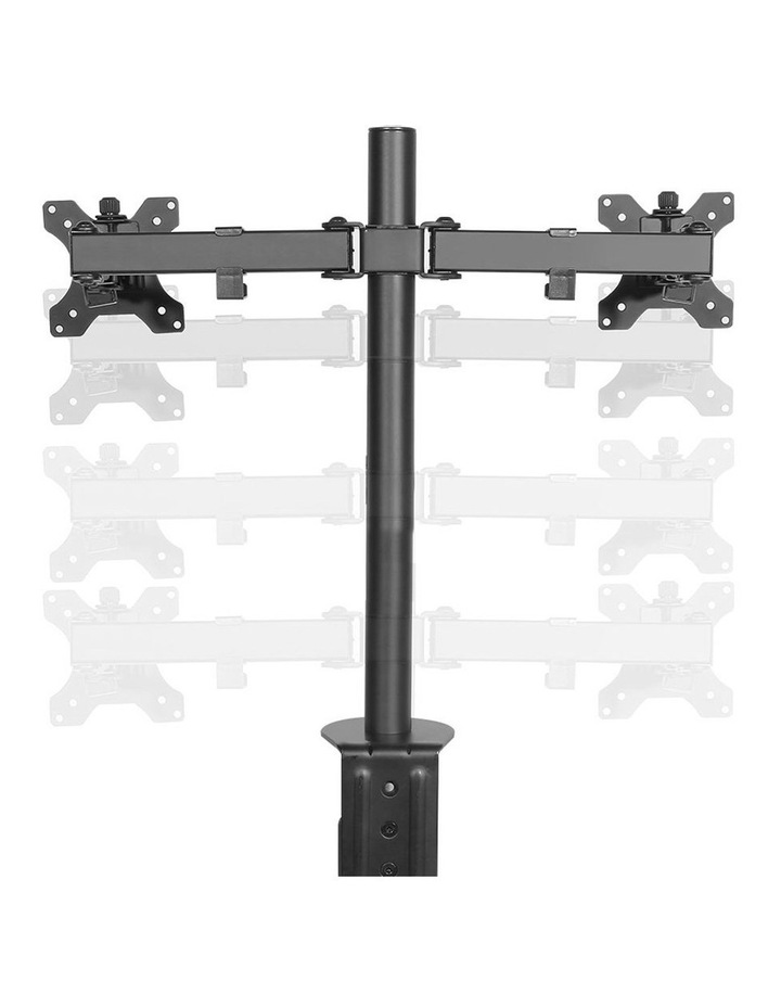 Dual LED Monitor Stand 2 Arm Hold Two LCD Screen TV Desk Mount Bracket image 4