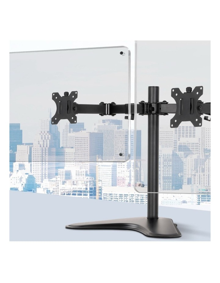 Dual HD LED Monitor Arm Stand TV Mount Holder 2 Arm Display Freestanding image 3