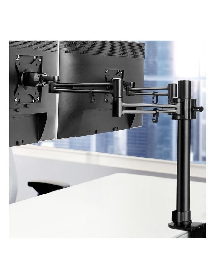 2 Arms Adjustable Monitor Screen Holder - Black image 3