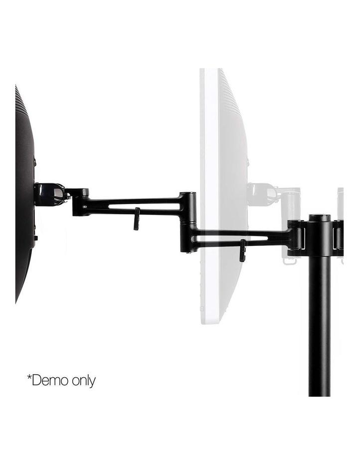 2 Arms Adjustable Monitor Screen Holder - Black image 6