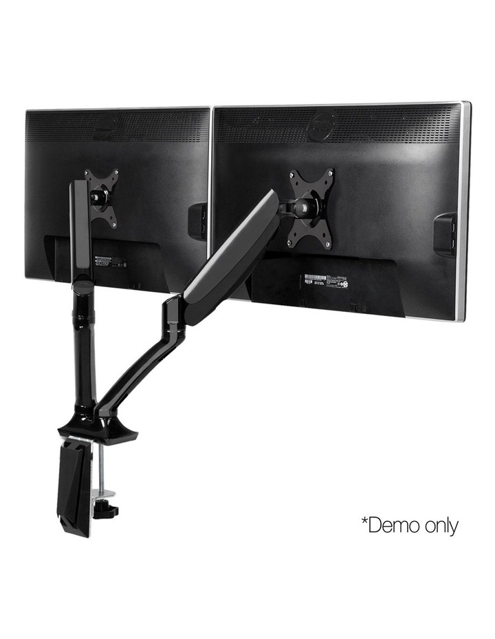 2 Arms Adjustable Monitor Screen Holder - Black image 1