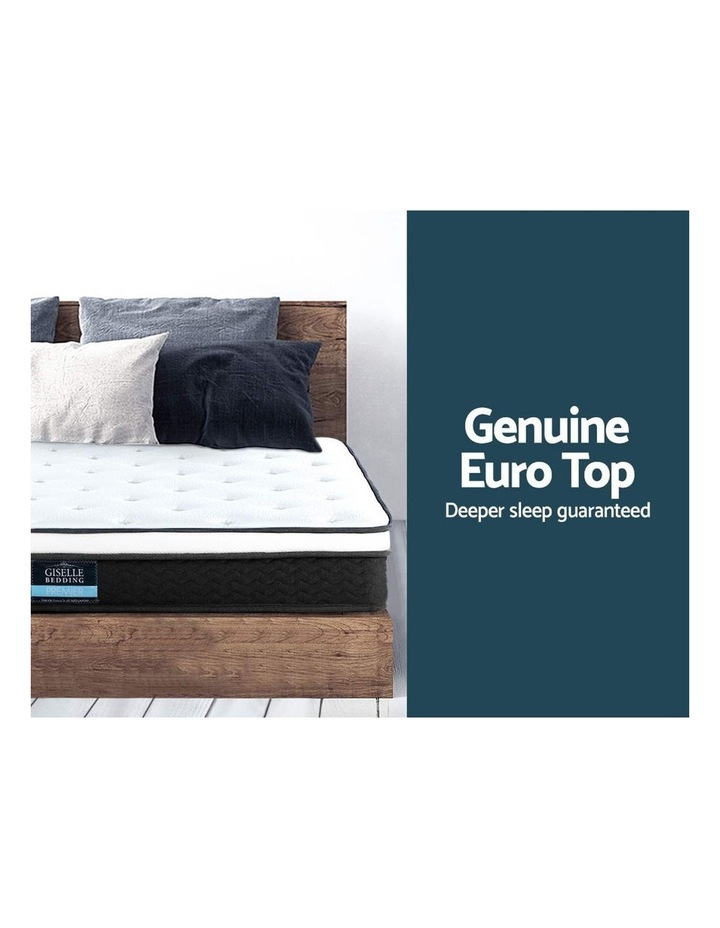 KING SINGLE Size Mattress Euro Top Bed Bonnell Spring Foam 21cm image 3