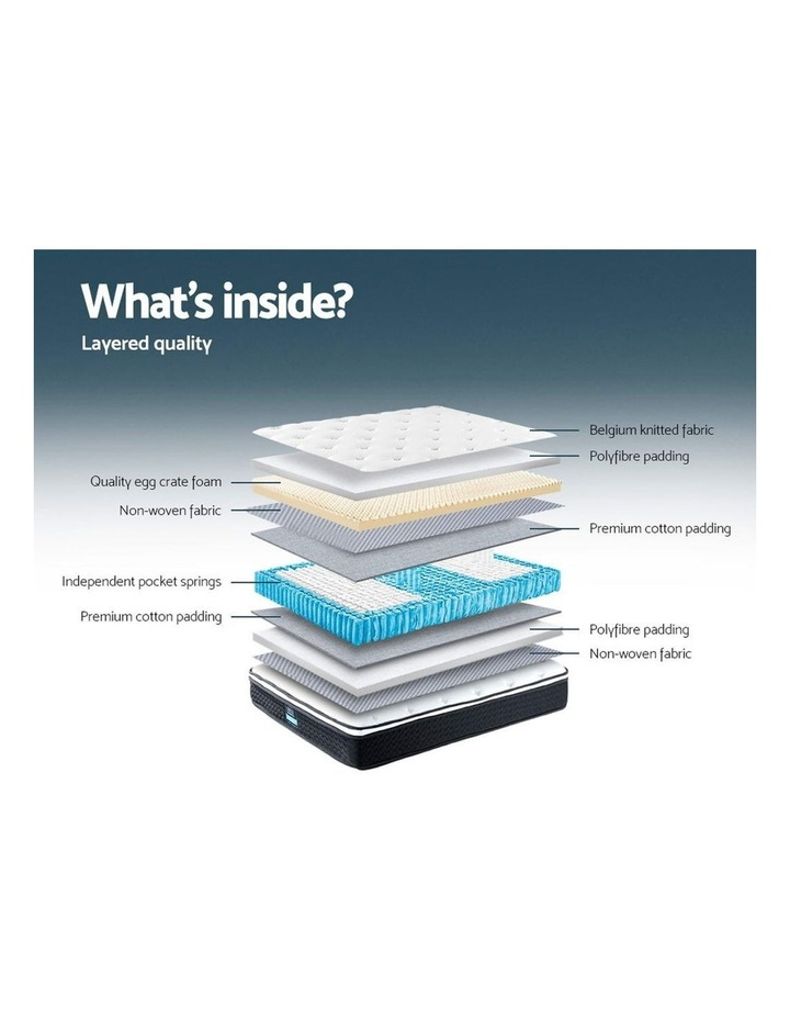 KING SINGLE Size Mattress Euro Top Bed Bonnell Spring Foam 21cm image 6
