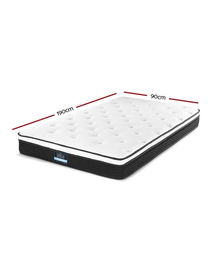 SINGLE Size Mattress Euro Top Bed Bonnell Spring Foam 21cm image 2