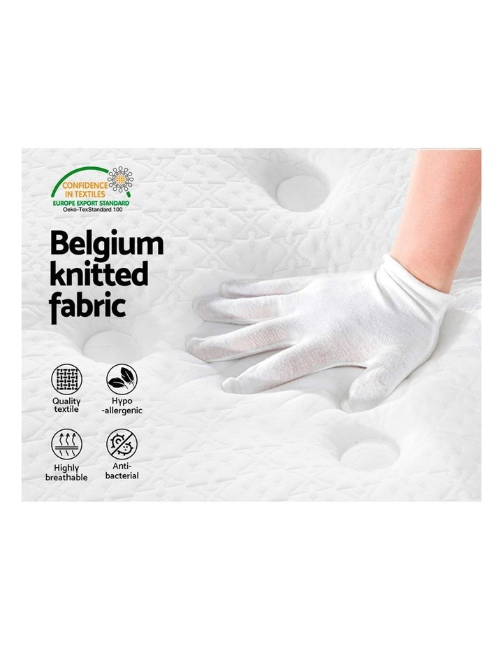 SINGLE Size Mattress Euro Top Bed Bonnell Spring Foam 21cm image 4