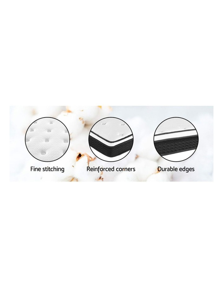 SINGLE Size Mattress Euro Top Bed Bonnell Spring Foam 21cm image 5