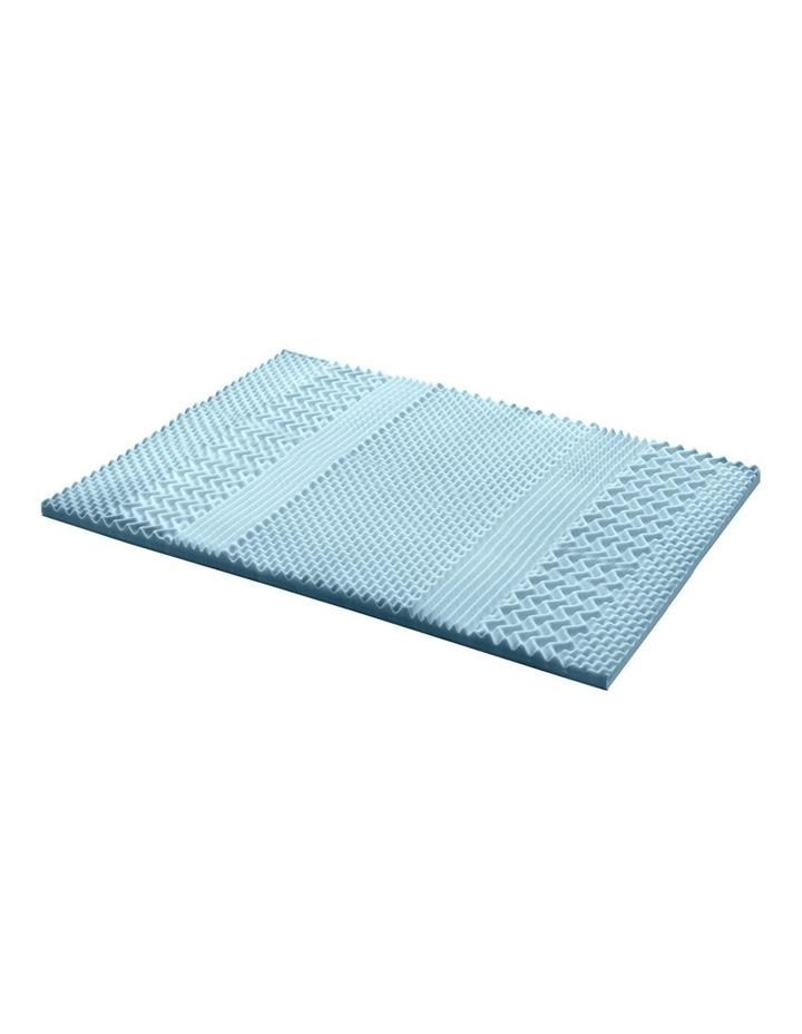 COOL GEL Memory Foam Mattress Topper BAMBOO 5CM 7-Zone Double image 1
