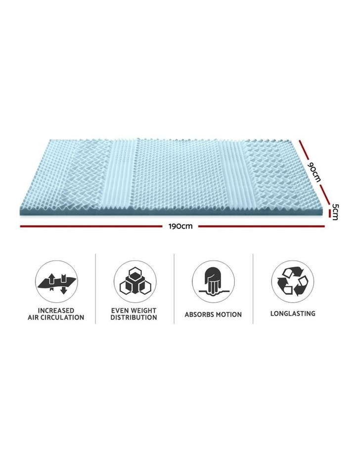 COOL GEL Memory Foam Mattress Topper BAMBOO 5CM 7-Zone Single image 2