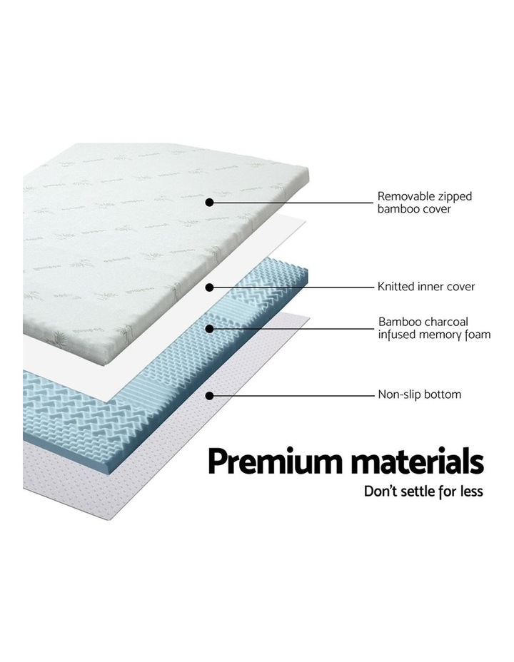 COOL GEL Memory Foam Mattress Topper BAMBOO 8CM 7-Zone Double image 4