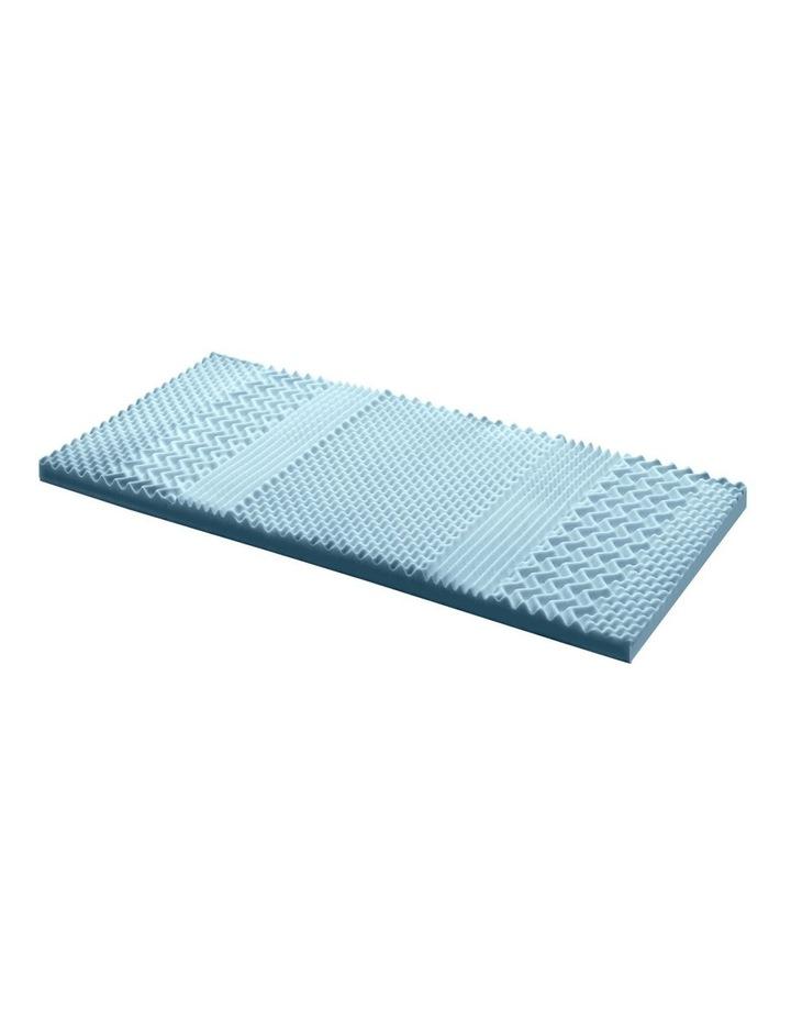 COOL GEL Memory Foam Mattress Topper BAMBOO 8CM 7-Zone Single image 1