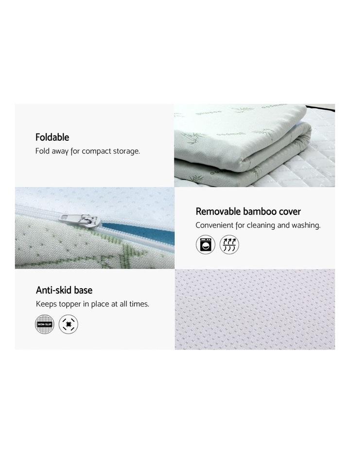 COOL GEL Memory Foam Mattress Topper BAMBOO 8CM 7-Zone Single image 5