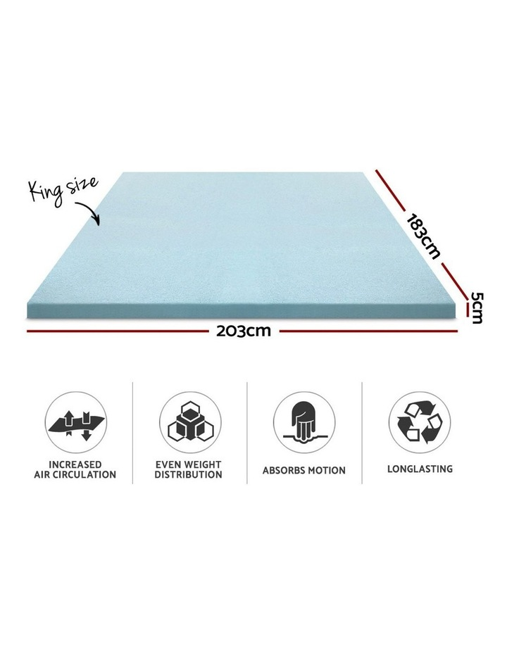 COOL GEL Memory Foam Mattress Topper image 2