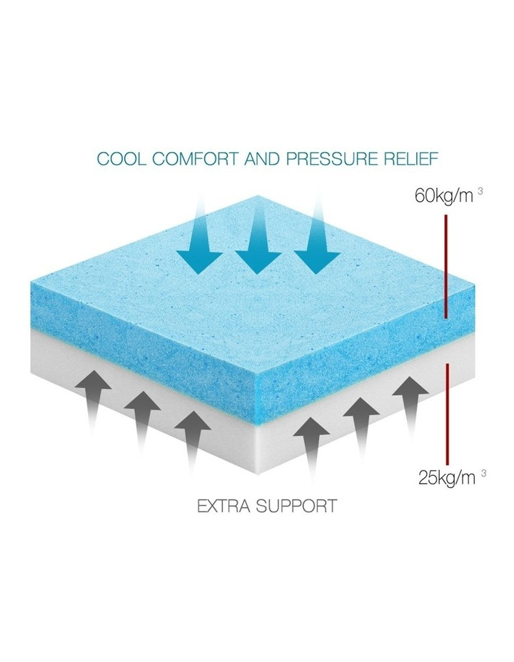 Double Size Dual Layer Cool Gel Memory Foam Topper image 4