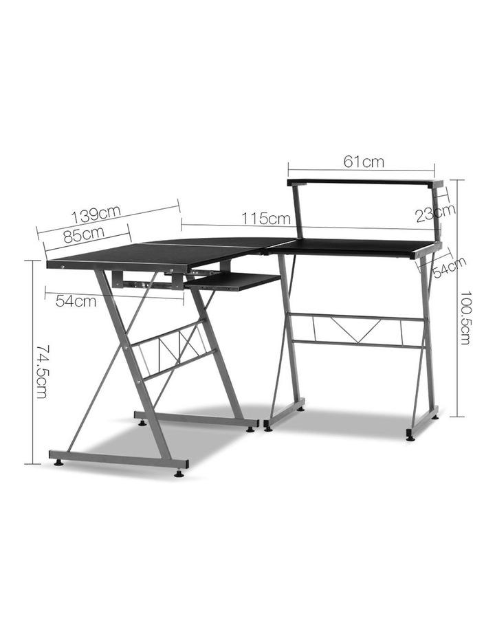 Corner Metal Pull Out Table Desk image 1
