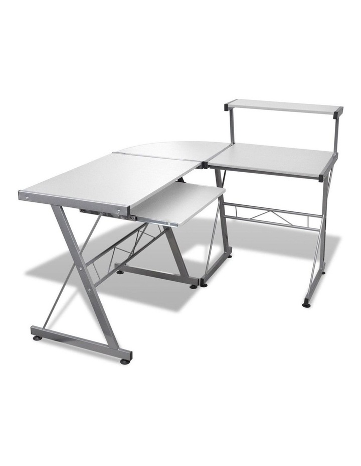Corner Metal Pull Out Table Desk image 1