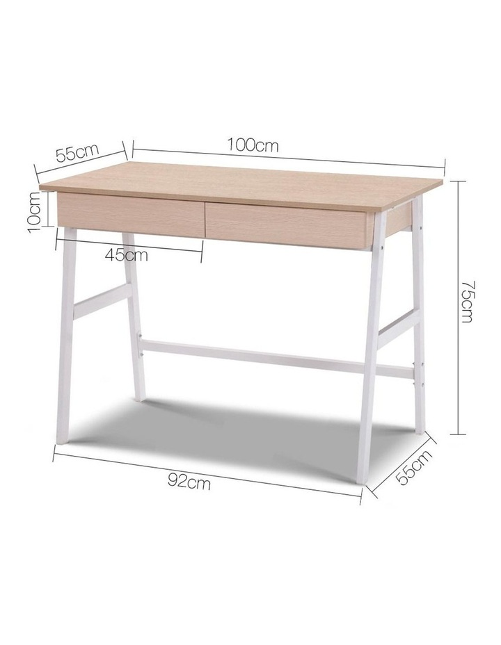 Metal Desk with Drawer image 2