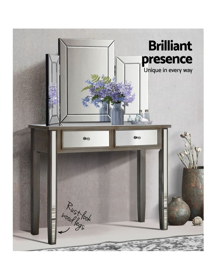 Mirrored Furniture Dressing Console image 4