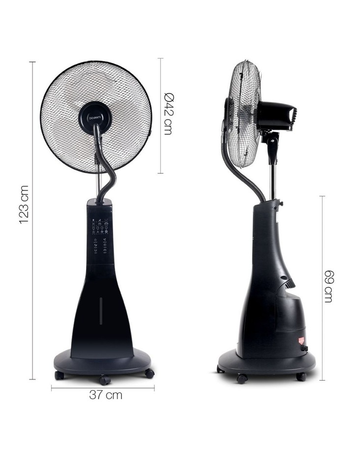 Portable Misting Fan with Remote Control image 2