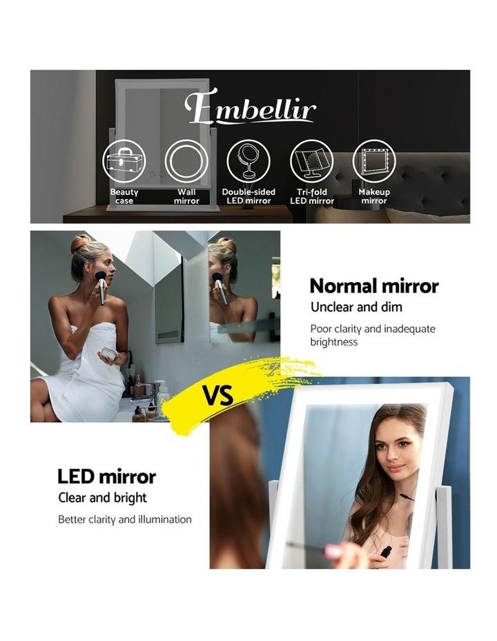 LED Makeup Mirror Hollywood Standing Mirror Tabletop Vanity image 4