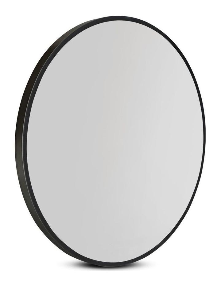 Embellir Round Wall Mirror 50cm Makeup Mirror Frameless Bathroom Vanity Black Decor image 1